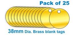 33mm Brass Blank Valve Tags