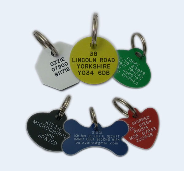 Plastic Engraved Dog Tags For Pets